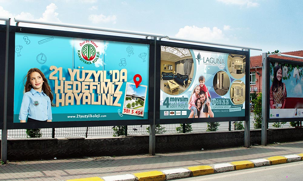 21. Yüzyıl Karşıyaka High School Outdoor Advertising